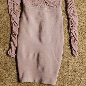 bebe Dresses - Bebe XXS PURPLE BANDAGE DRESS